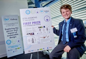 Leon Andrews of St. Ives School with his winning design